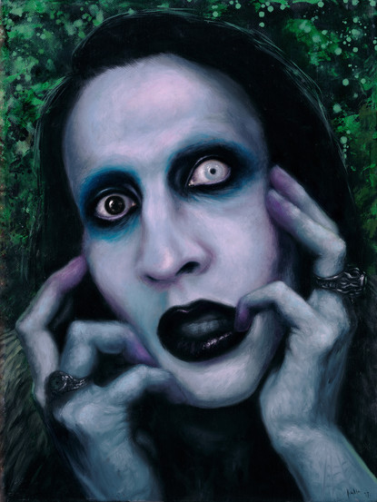 marilyn manson oil painting