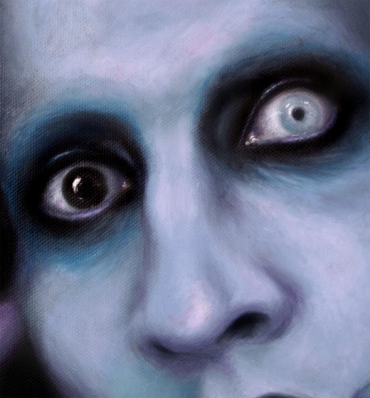 marilyn manson painting eyes