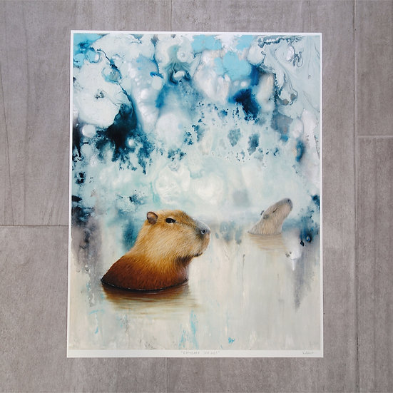 PRINT Capybara Springs