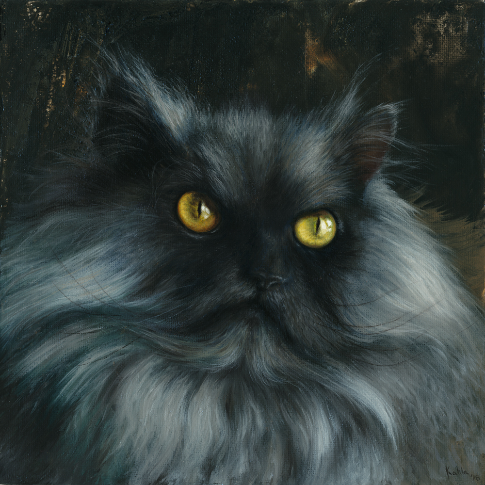 Juno Angry Cat Oil Painting