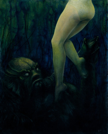 Creature From The Black Lagoon Oil Painting