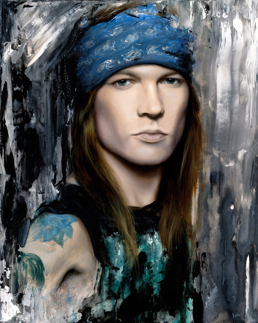 axl rose oil painting