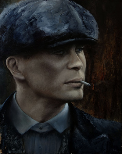 Tommy Shelby oil painting