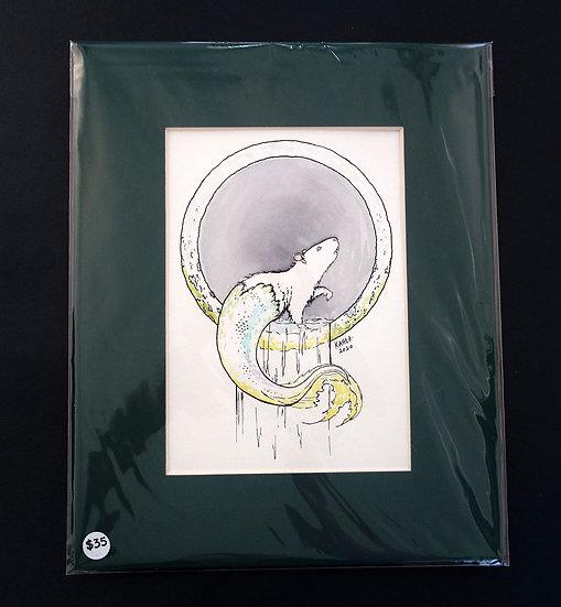 Original Sketch Rat Mermaid