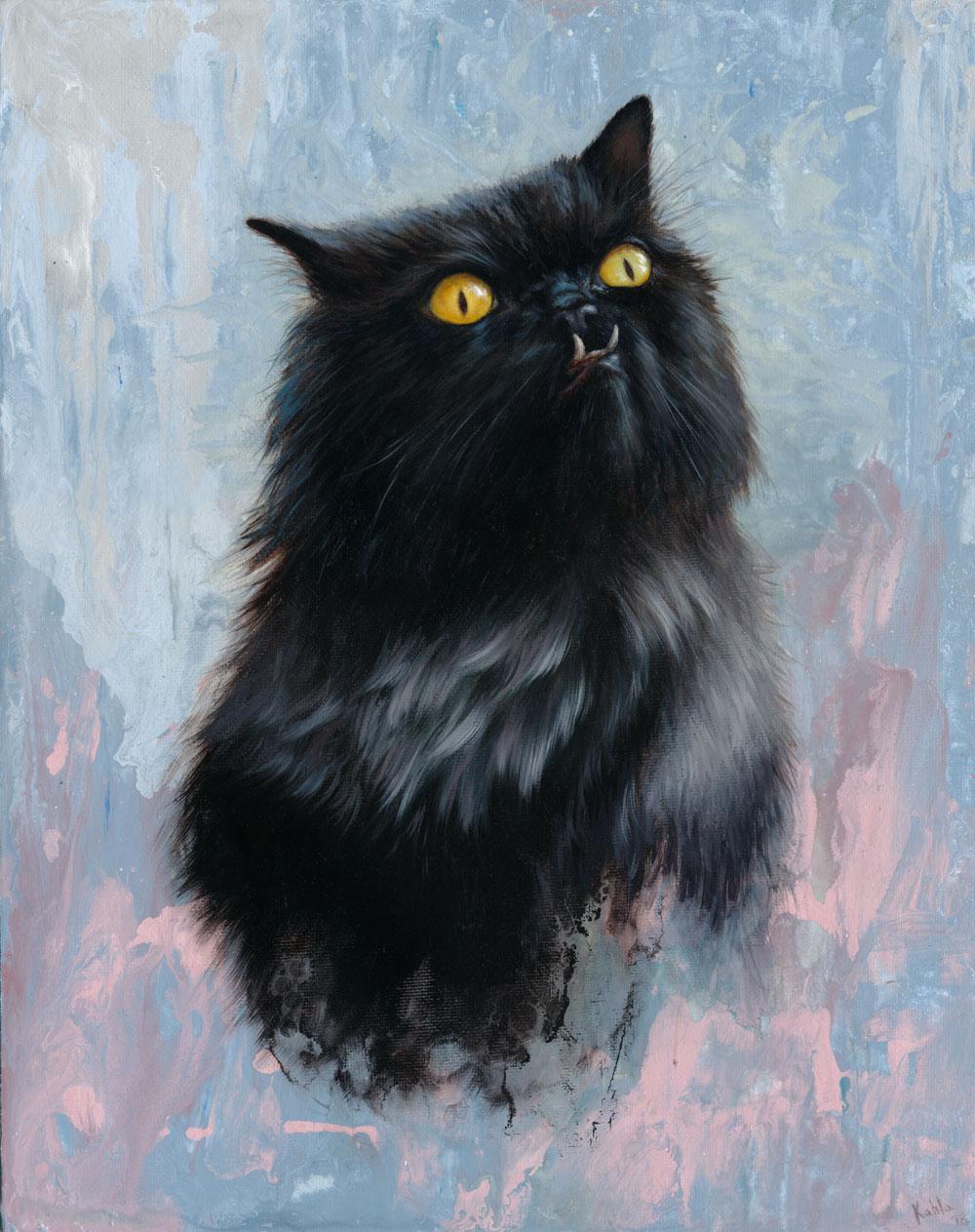 Princess Monster Truck Cat Painting