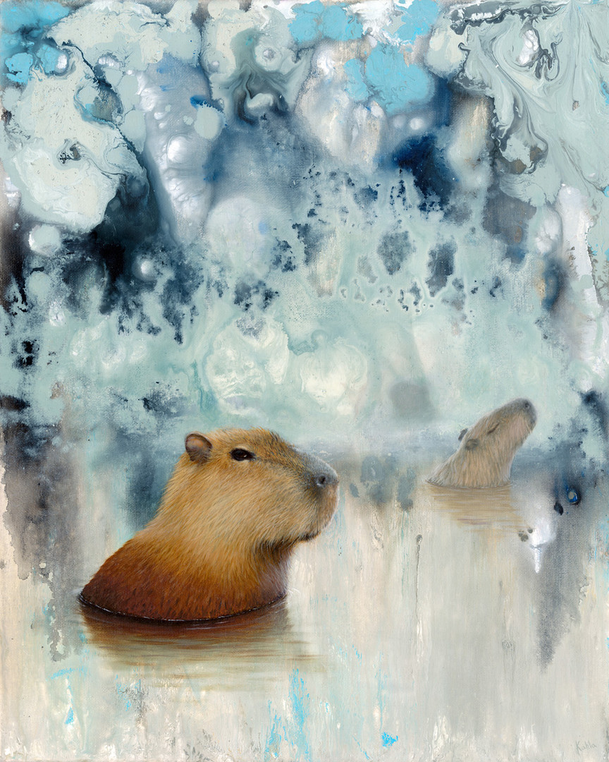 capybara oil painting
