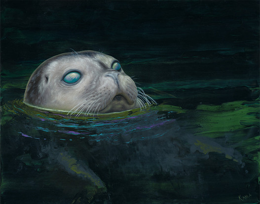 Shipwreck Seal Oil Painting