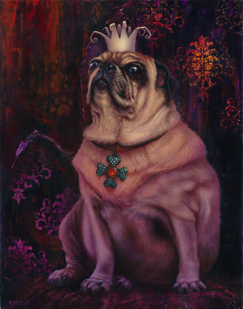 Pug King Painting