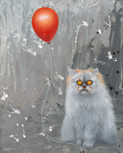 Pennywise Cat Oil Painting