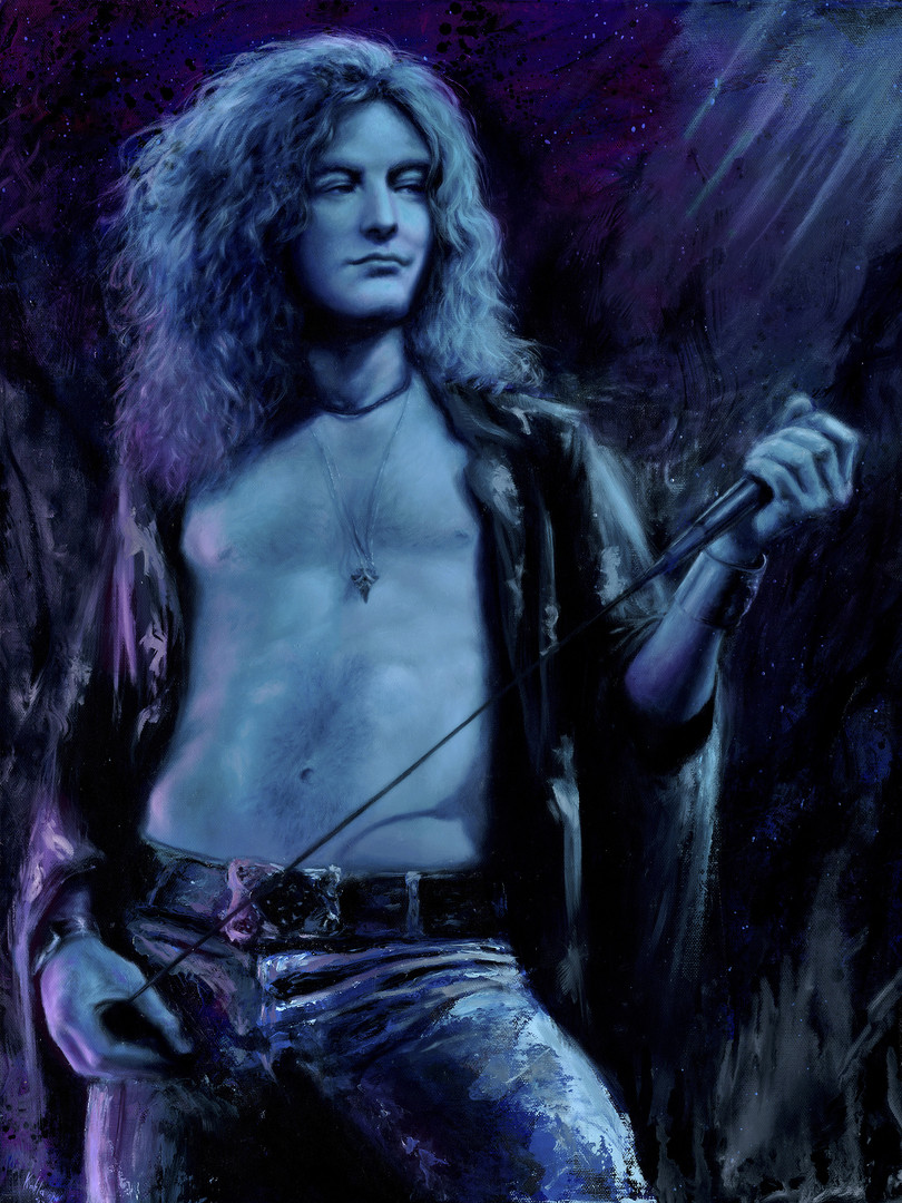 robert plant oil painting