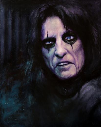 Alice Cooper oil painting