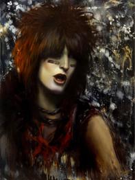 Nikki Sixx oil painting