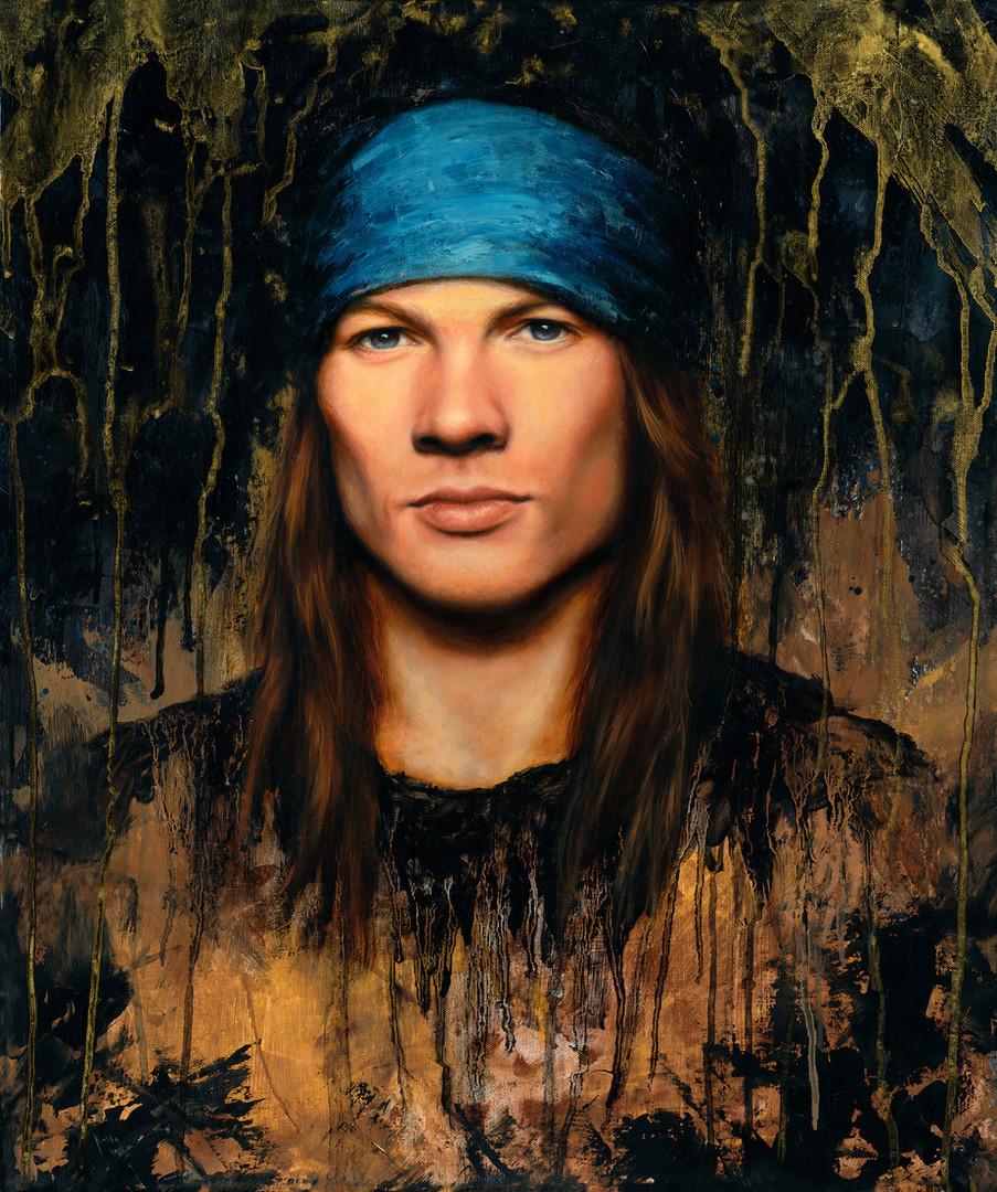 Axl Rose oil painting portrait