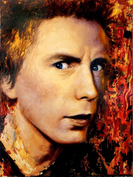 Johnny Rotten portrait painting