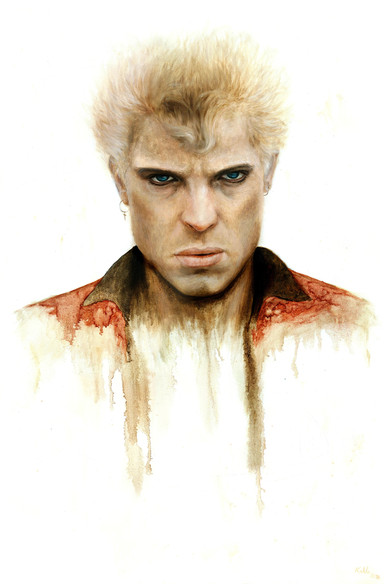 Billy Idol oil painting