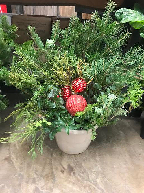 Holiday Porch Planter