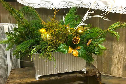 Fresh Evergreen Holiday Arrangement