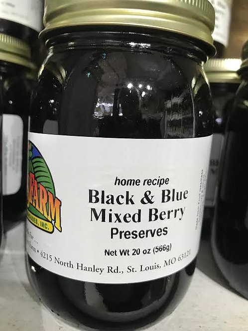 Black and Blue Mixed Berry Preserves