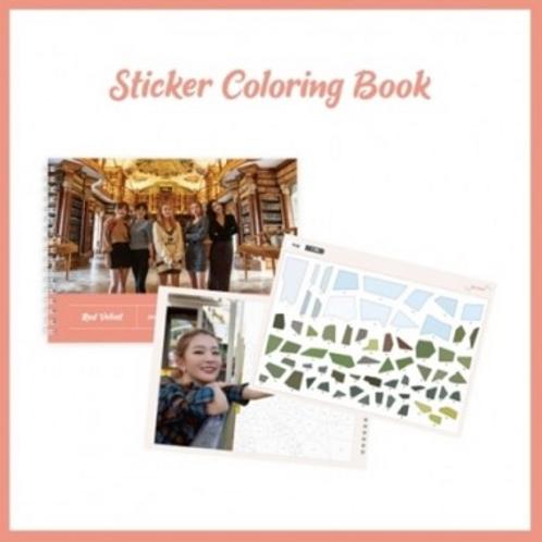Offizielles Red Velvet Stickermalbuch mit Notizseiten