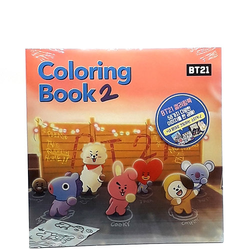 BT21 Coloring Book Vol.2 + 45 Sticker