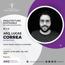 Lucas Correa, conferencista invitado de la Universidad de San Gregorio de Porto Viejo
