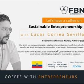 """Lucas Correa Sevilla en FBN """"Un café con Emprendedores"""""""