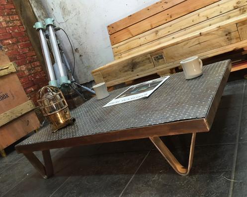 Trolley Coffee Table.Coffee Table Foundry Pallet Trolley Steel