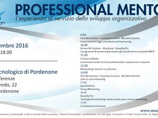 Aggiornamento professionale: programma evento formativo - sabato 19 novembre 2016