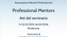 Professional Mentors: atti del seminario 2015