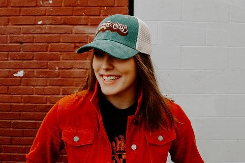 70s Blue Corduroy Trucker Hat