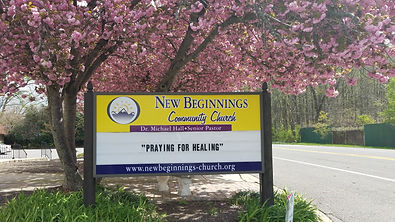 New Beginnings Church Signage Praying Fo
