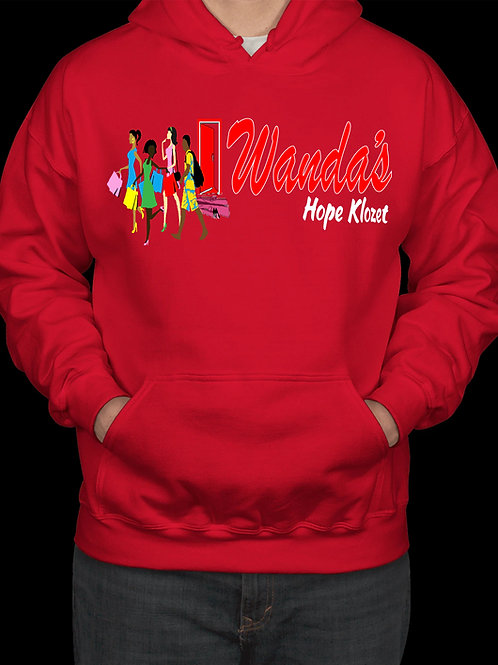 Wanda's Hope Klozet Hooded Sweatshirt Color Red