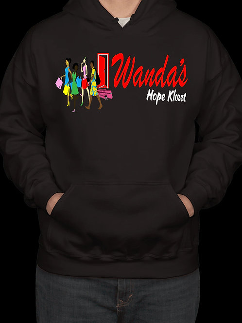 Wanda's Hope Klozet Hooded Sweatshirt Color Black
