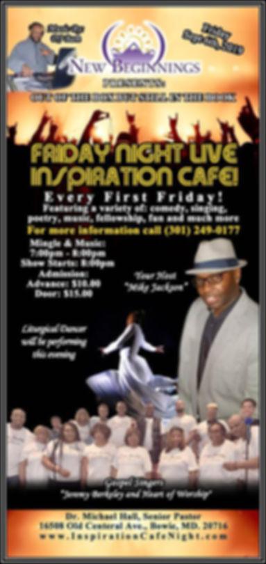 Friday Night LIVE Inspiration Cafe Septe