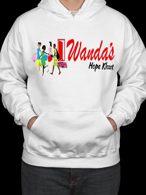 Wanda's Hope Klozet Hooded Sweatshirt Color White