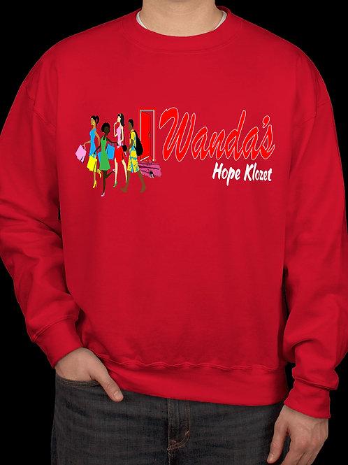 Wanda's Hope Klozet Sweatshirt Color Red