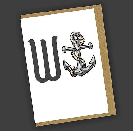 Wanchor Greetings Card CCL