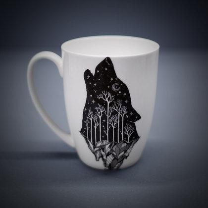 Howling Wolf Bone China or Stoneware Mug CCL