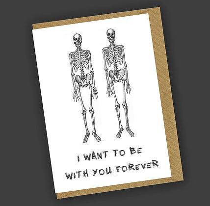Sweet Nothings Skeletons Greetings Card CCL