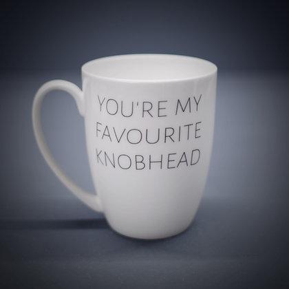 You're My Favourite Knobhead Bone China or Stoneware Mug CCL