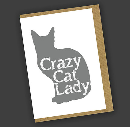 Crazy Cat Lady Greetings Card CCL