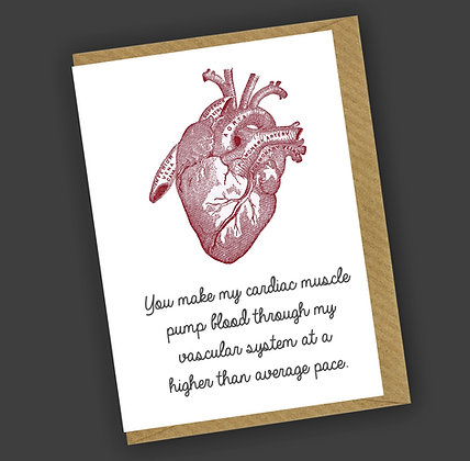Cardiac Muscle Greetings Card CCL