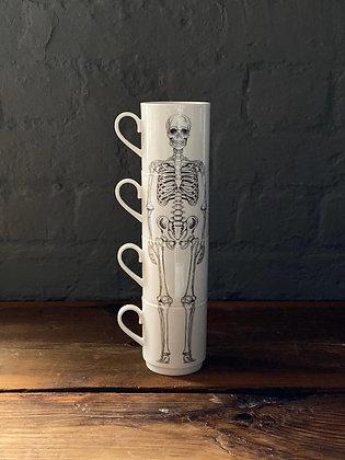 Stacking Skeleton Mug Set Bone China CCL