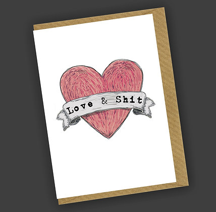 Love & Shit Greetings Card CCL