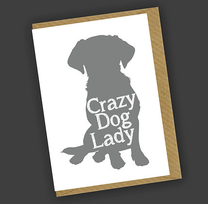 Crazy Dog Lady Greetings Card CCL