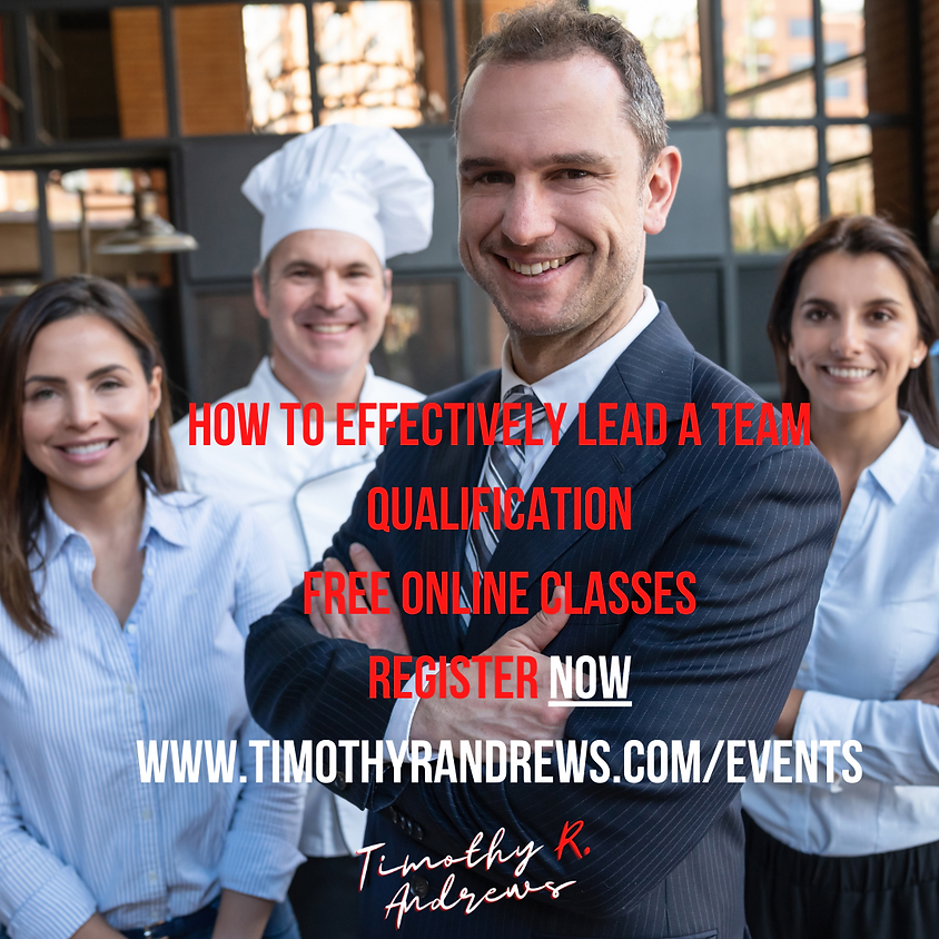 How to Effectively Lead a Team Qualification