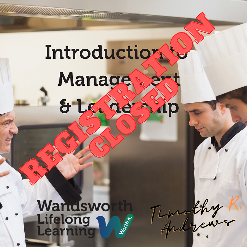 Introduction to Leadership & Management Course - Registration closed