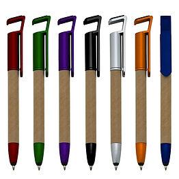 canetas ecologicas touch com suporte cod