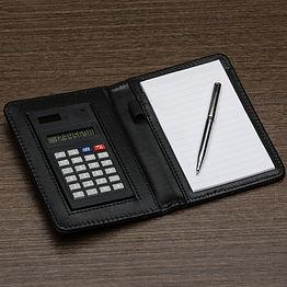 Bloco de anotações com calculadora cod.