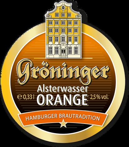 Alsterwasser Orange Etikett